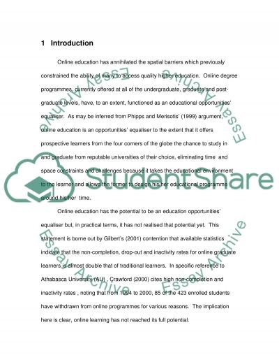 Distance Education Essay essay example