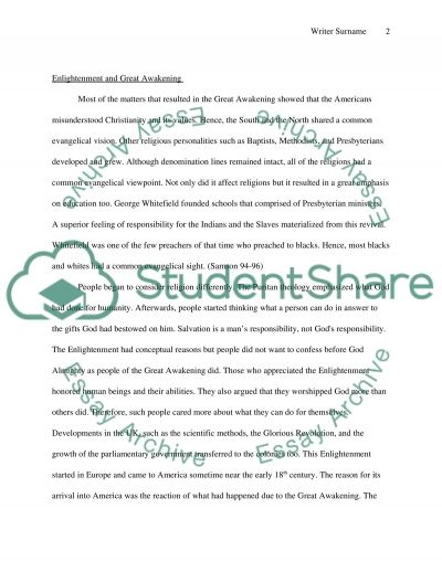 Long-Term Results of Enlightenment essay example