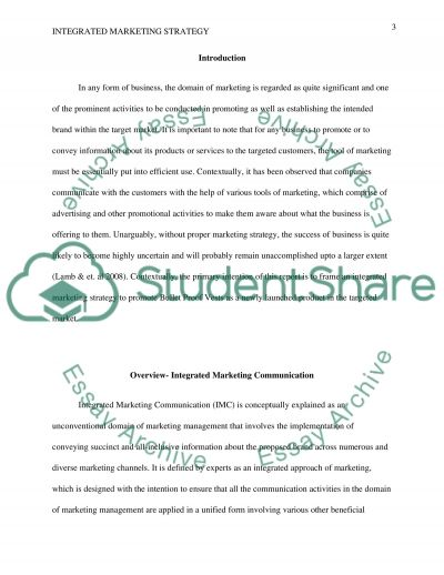 Integrated Marketing Strategy essay example