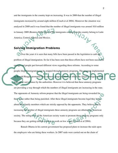 Illegal Immigration Reforms Essay Example  Topics And Well Written  Illegal Immigration Reforms