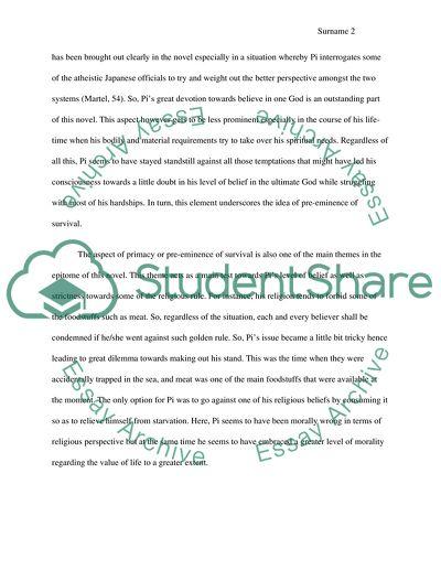 Essay for Life of Pi A