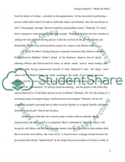 George Schuylers Black No More essay example