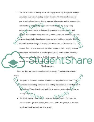 English Language Teaching Essay