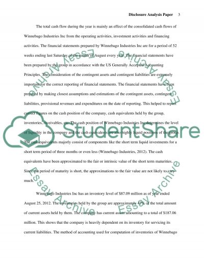 Disclosure Analysis Paper essay example