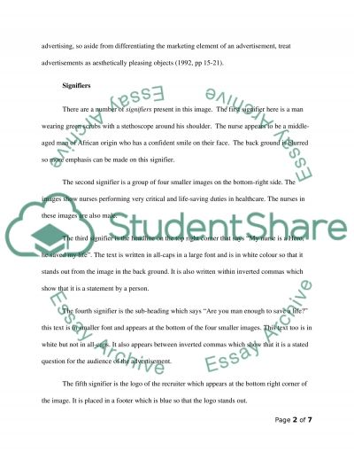 Semiotic Analysis Paper essay example