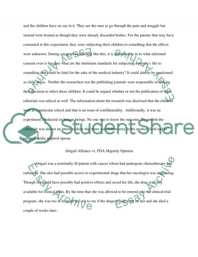 Medical Ethics and Informed Consent essay example