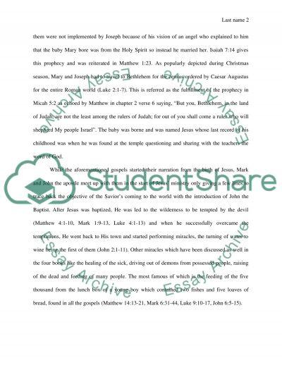 Ummary of the New Testament essay example