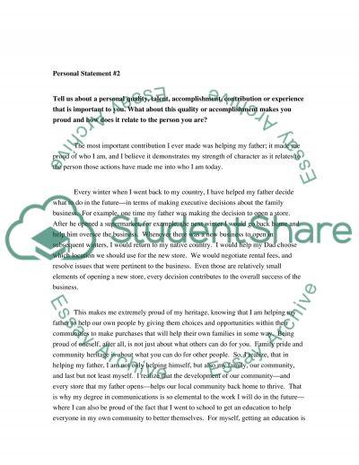 M essay example