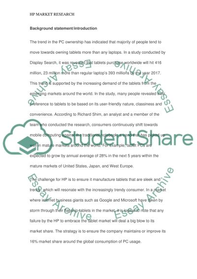 Feasibility Proposal essay example