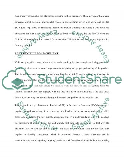 FINANCIAL SERVICES MARKETING essay example