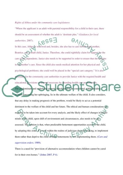 Law in social work essay example