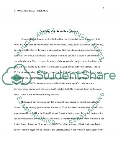 Promotion of Stroke and Heart Diseases essay example