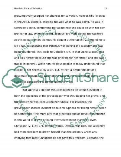hamlet sin and salvation essay example topics and well written  hamlet sin and salvation essay example