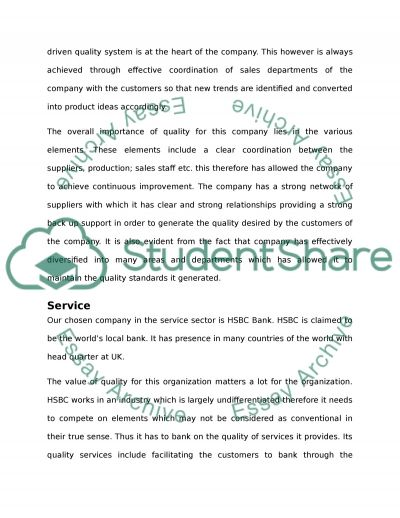 Total Quality Management College Essay essay example