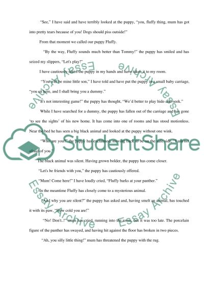 Narrative Writing essay example