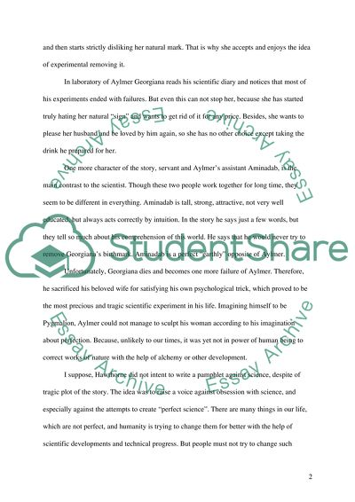 English Narrative Essay Topics The Birthmark Of Nathaniel Hawthorne Essay On English Teacher also Cheap Essay Papers The Birthmark Of Nathaniel Hawthorne Essay Example  Topics And Well  Process Essay Thesis Statement