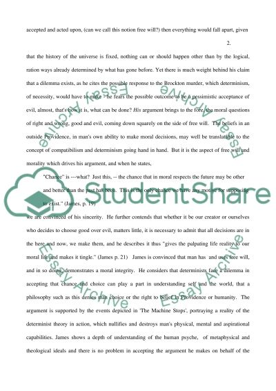 Free Will and Moral Integrity essay example