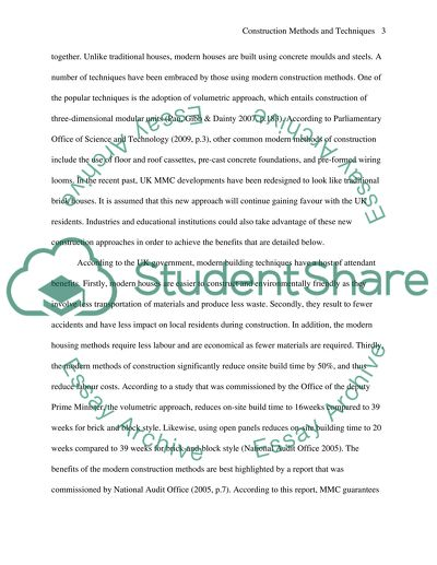 essay about construction technology