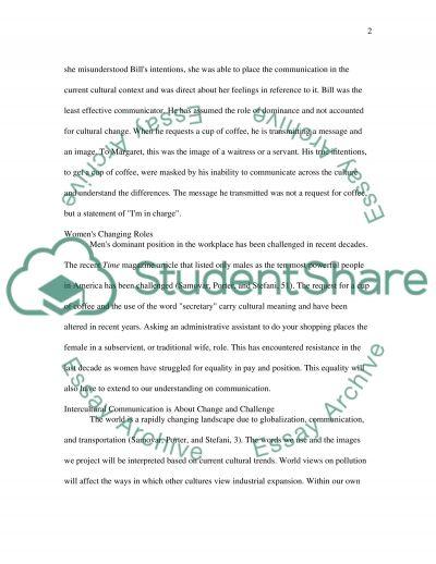 Intercultural Communication paper essay example