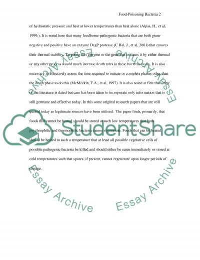 Food Safety essay example