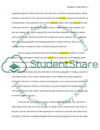 Self Evaluation: On Writing A Research Paper Essay Example