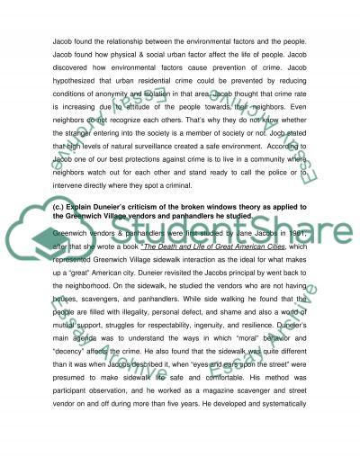 Urban Sociology essay example