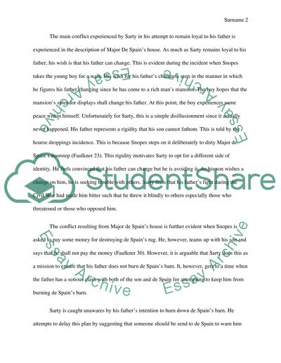 Synthesis Essay Introduction Example Conflict In Barn Burning English Essay Structure also Thesis For Compare Contrast Essay Conflict In Barn Burning Essay Example  Topics And Well Written  A Modest Proposal Ideas For Essays