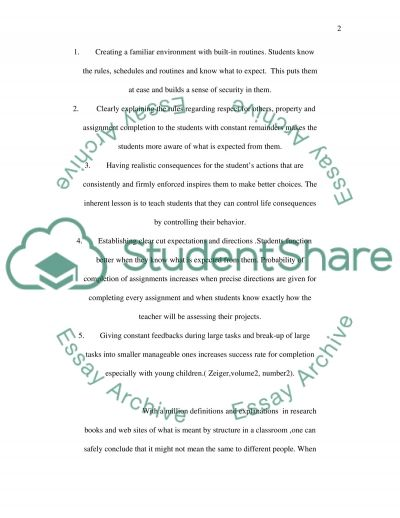 The Academic Benefits of a Structured Classroom Environment