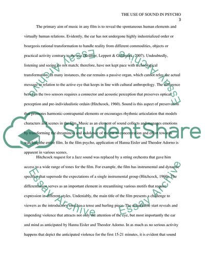 Importance Of English Essay The Use Of Sound In Psycho  Essay Example Examples Of High School Essays also English Literature Essay Questions The Use Of Sound In Psycho Essay Example  Topics And Well Written  How To Write An Essay Proposal