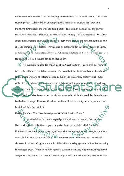 Thesis Statements For Argumentative Essays Danderous Hazing Rituals Binge Drinking And Inappropriate Behavior In  Fraternities And Sororities What Is A Thesis For An Essay also Sample Essay With Thesis Statement Danderous Hazing Rituals Binge Drinking And Inappropriate Behavior  Thesis Statement For Friendship Essay