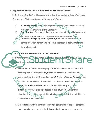 Ethical Dilemma at the Workplace Essay Example | Topics and