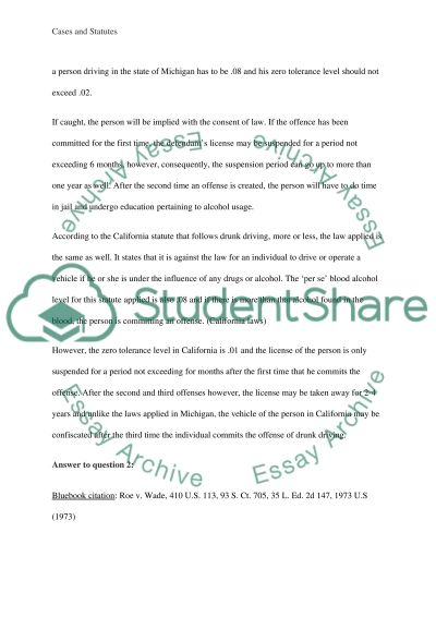 Legal Studies coursework