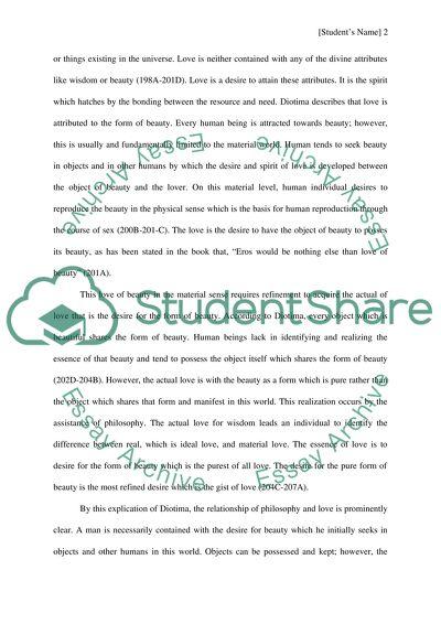 symposium essay on love
