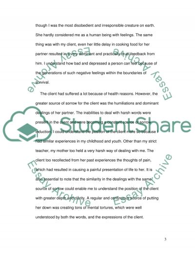 Self-experiences influence the dealings of a Counselor essay example