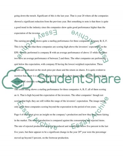 Business Strategy Of The Footwear Company Essay Example