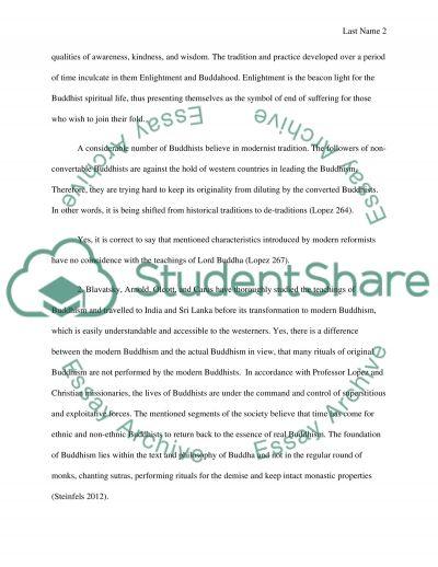 Buddhism Final Essay essay example