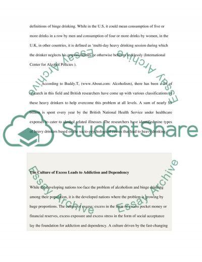 Binge Drinking essay example