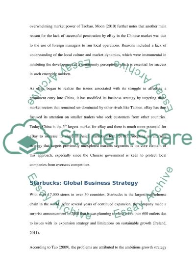 global strategic planning essay