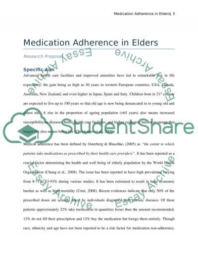 Medication Adherence in Elders essay example