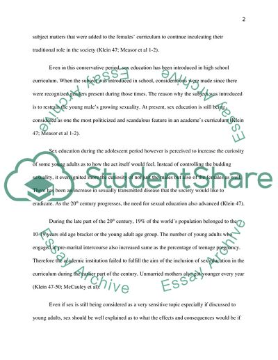 Process Essay Thesis Statement Sex Education Among Young Advanced English Essay also Science Vs Religion Essay Sex Education Among Young Essay Example  Topics And Well Written  Interesting Persuasive Essay Topics For High School Students