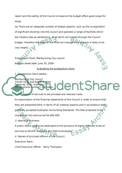 Auditing & Insurance services essay example