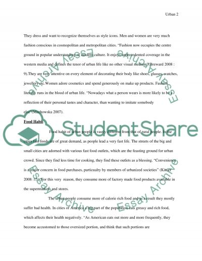 Sociology of Cities and Urban Lives essay example