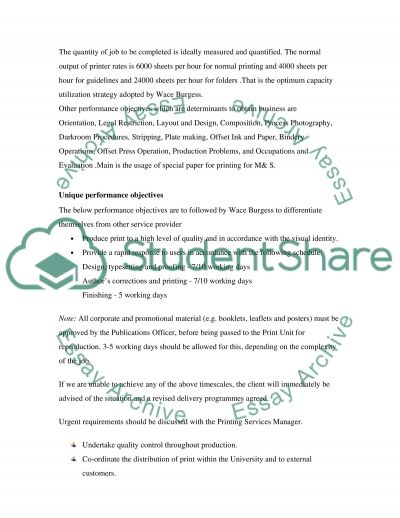 Operations & Service Management essay example