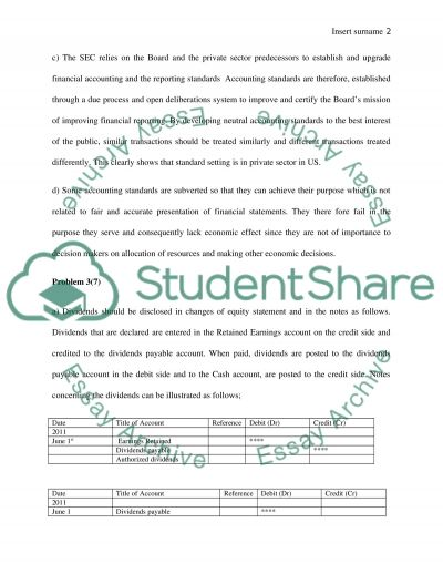Financial Reporting and Analysis essay example