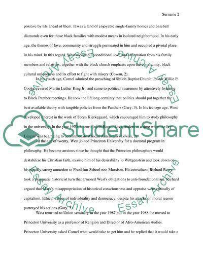 Cornel west essays