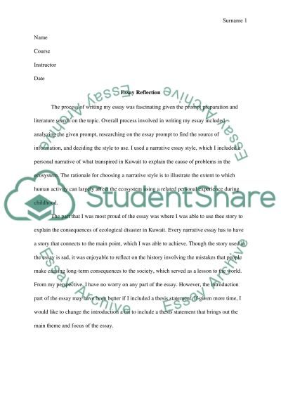 The overall process involved in writing the essay essay example