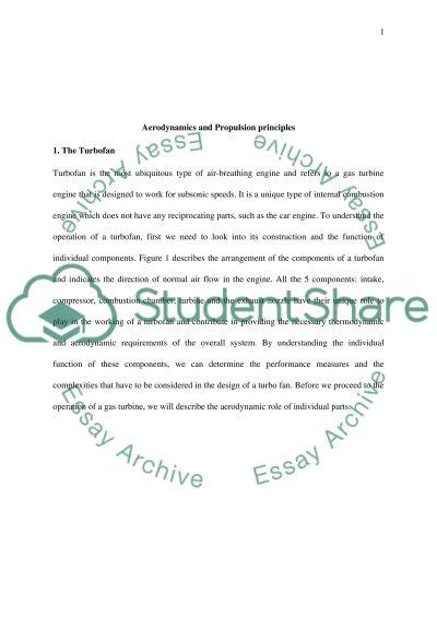Aerodynamics and Propulsion principles essay example