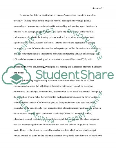 Conceptual Change Models of Teaching and Learning essay example