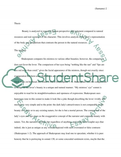 poetry essay Essay example