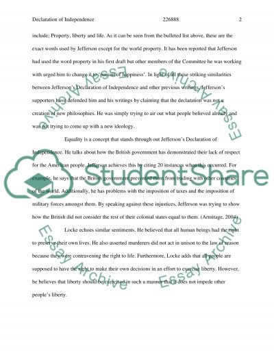 The Declaration of Independence essay example